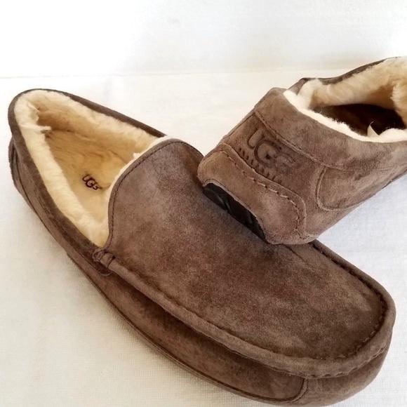 73650377073 UGG Australia Men's Ascot Moccasin Slippers Sz 18